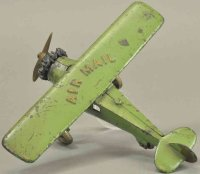 Kenton Hardware Co Cast-Iron Airplanes Large airmail,...