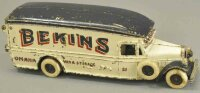 Arcade Cast-Iron trucks White Bekins moving van, cast...