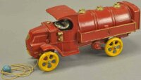 Hubley Cast-Iron trucks Gas Truck, cast iron, painted in...