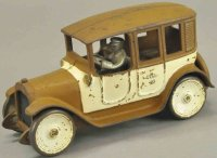 Arcade Cast-Iron Oldtimer Brown and white cab, scarce...