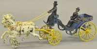 Dent Hardware Co Cast-Iron-Carriages Cabriolet,  painted...