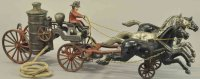 Kenton Hardware Co Cast-Iron-Carriages Fire pumper drawn...
