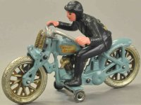 Hubley Cast-Iron-Motorcycles Large hill climber, cast...