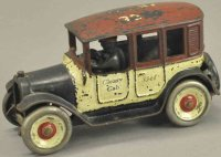 Arcade Cast-Iron Oldtimer Red top cleary cab, cast iron,...