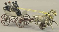 Shimer Toy Co. Cast-Iron-Carriages Horse drawn wagon,...