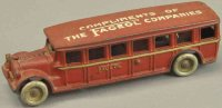 Arcade Cast-Iron buses Fageol coach promotional bus, cast...