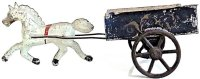 Brown George Tin-Carriages Tin horse drawn cart toy