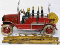 Tippco Tin-Fire-Truck Firefighter crew car, complete with...
