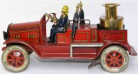 Tippco Tin-Fire-Truck Fire service tank wagon, complete...