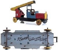 Levy George (Gely) Tin-Penny Toy Ladder fire truck...