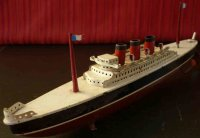 Arnold Tin-Ships Tin wind-up ocean liner with clockwork,...