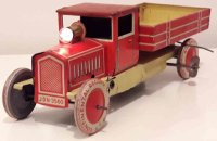 Distler Tin-Trucks Wind up dump truck JDN 3560 with...
