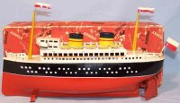 Arnold Tin-Ships Ocean liner with clockwork, handpainted...
