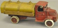 Arcade Cast-Iron trucks Mack gasoline truck, unusual...