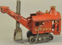 Hubley Cast-Iron Tugs-Rollers Panama steam digger, cast...