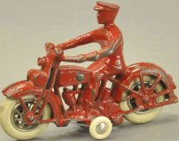 Kilgore Cast-Iron-Motorcycles Cop cycle, cast iron,...