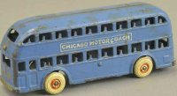 Arcade Cast-Iron buses Chicago motorcoach, a scarce cast...