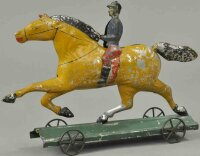 Hull & Stafford Tin-Figures Dexter horse with rider,...