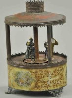 Brown George Tin-Carousels Automatic waltzers, one of two...