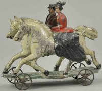 Hull & Stafford Tin-Figures Double riders platform toy,...
