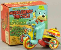 Linemar Tin-Figures Huckleberry tricycle,  lithographed...