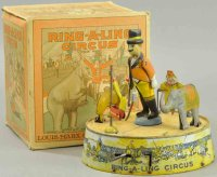 Marx Tin-Toys Ring-A-Ling Circus Chromolithographed...