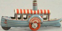 Meier Tin-Penny Toy Riverboat steamer, made of...