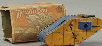 Marx Tin-Toys Doughboy tank with box, lithographed tin...