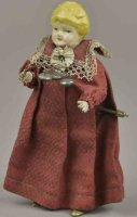 Staudt Leonhard Tin-Figures Girl with bells, hand...