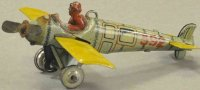 Distler Tin-Penny Toy Airplane, possible hanging plane,...