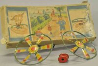 Lehmann Tin-Toys Boxed flying pinwheel, lithographed tin,...
