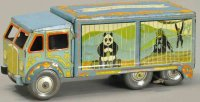 Mettoy Tin-Trucks Bingos circus truck, tinplate clockwork...