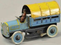 Orobr Tin-Trucks Covered delivery van, this blue and...