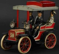 Carette Tin-Oldtimer Tonneau, lithographed tin, open body...