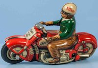Schuco Tin-Motorcycles CURVO #1000 of lithographed tin...