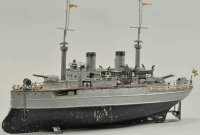 Fleischmann Tin-Ships Battleship,  hand painted in...