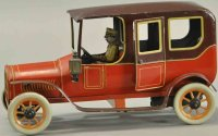 Bing Tin-Oldtimer Limousine, lithographed tin, bright...