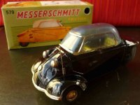 Bandai Tin-Cars Messerschmitt car of tin with friction...