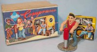 Gescha Tin-Figures Man with jackhammer and compressor in...