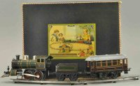 Bing Railway-Trains Train set with box, litho set...