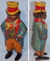 Issmayer Tin-Figures Man with hat and clockwork,...