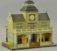 Maerklin Railway-Stations Station, entrance with balcony,...