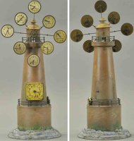 Doll Tin-Toys Lighthouse clock, very unique design,...
