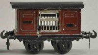 Carette Railway-Freight Wagons Live stock car with four...