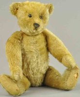 Steiff Baers Teddy bear, golden mohair, blank button,...