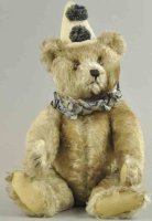 Steiff Baers Large clown teddy bear, brown tipped mohair,...