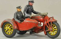 Hubley Cast-Iron-Motorcycles Motorcycle with sidecar ,...