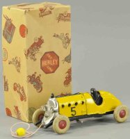 Hubley Cast-Iron Race-Cars Boxed racer 5 with electric...