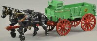 Arcade Cast-Iron-Carriages McCormick horse drawn wagon,...