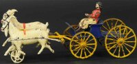 Harris Toy Co Cast-Iron-Carriages Dual goat cart, rare...